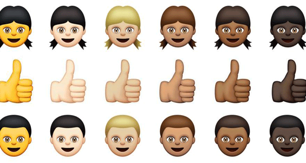 Apple lancia le emoticon multietniche